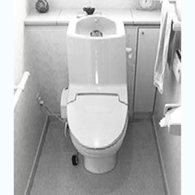 トイレ前(白黒)