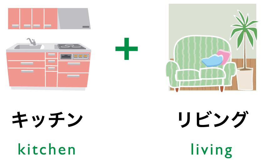 キッチン+リビング