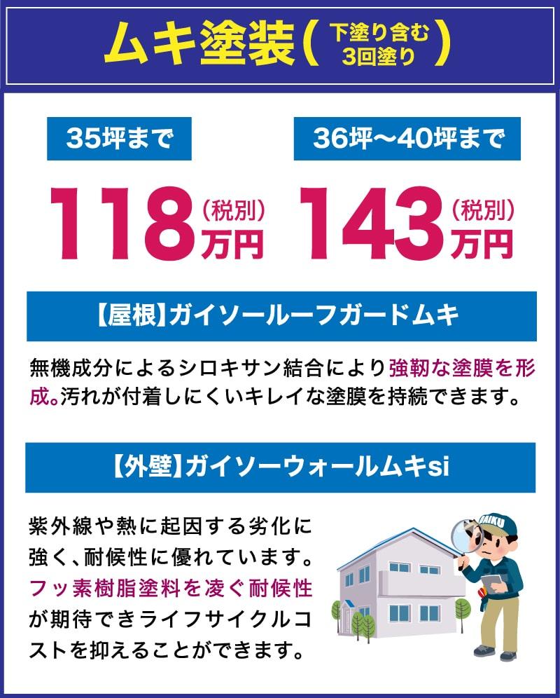 仙台のリフォーム専門店 ダイクショールーム ムキ塗装 外壁塗装