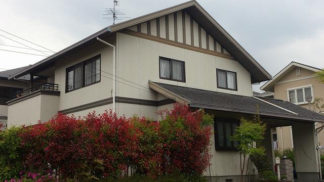 泉区K邸 外壁塗装・外装リフォーム 塗装85万円,駐車場51万円/工期1ヶ月 施工前