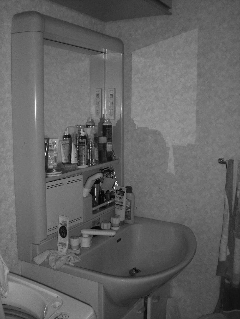 泉区W邸 洗面化粧台リフォーム 16.8万円※内装工事含/工期1日間 施工前