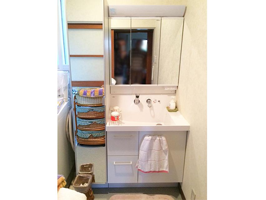 太白区N邸 洗面化粧台リフォーム 22万円/工期1日間 施工後