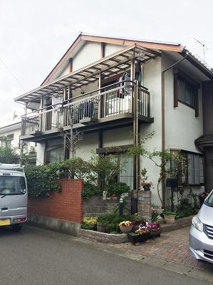 福島県H邸 外壁塗装・外装リフォーム 145万円/工期14日間 施工前