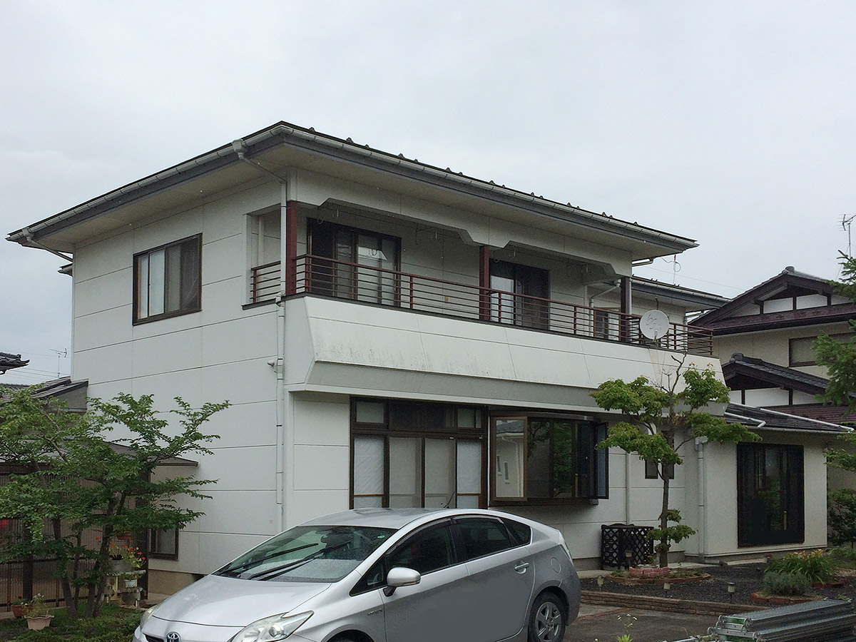 福島県O邸 外壁塗装・外装リフォーム 115万円/工期20日間 施工前