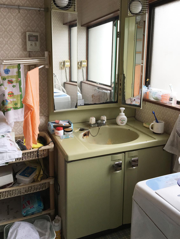 大崎市H邸 洗面化粧台リフォーム 34万円/工期1日間 施工前