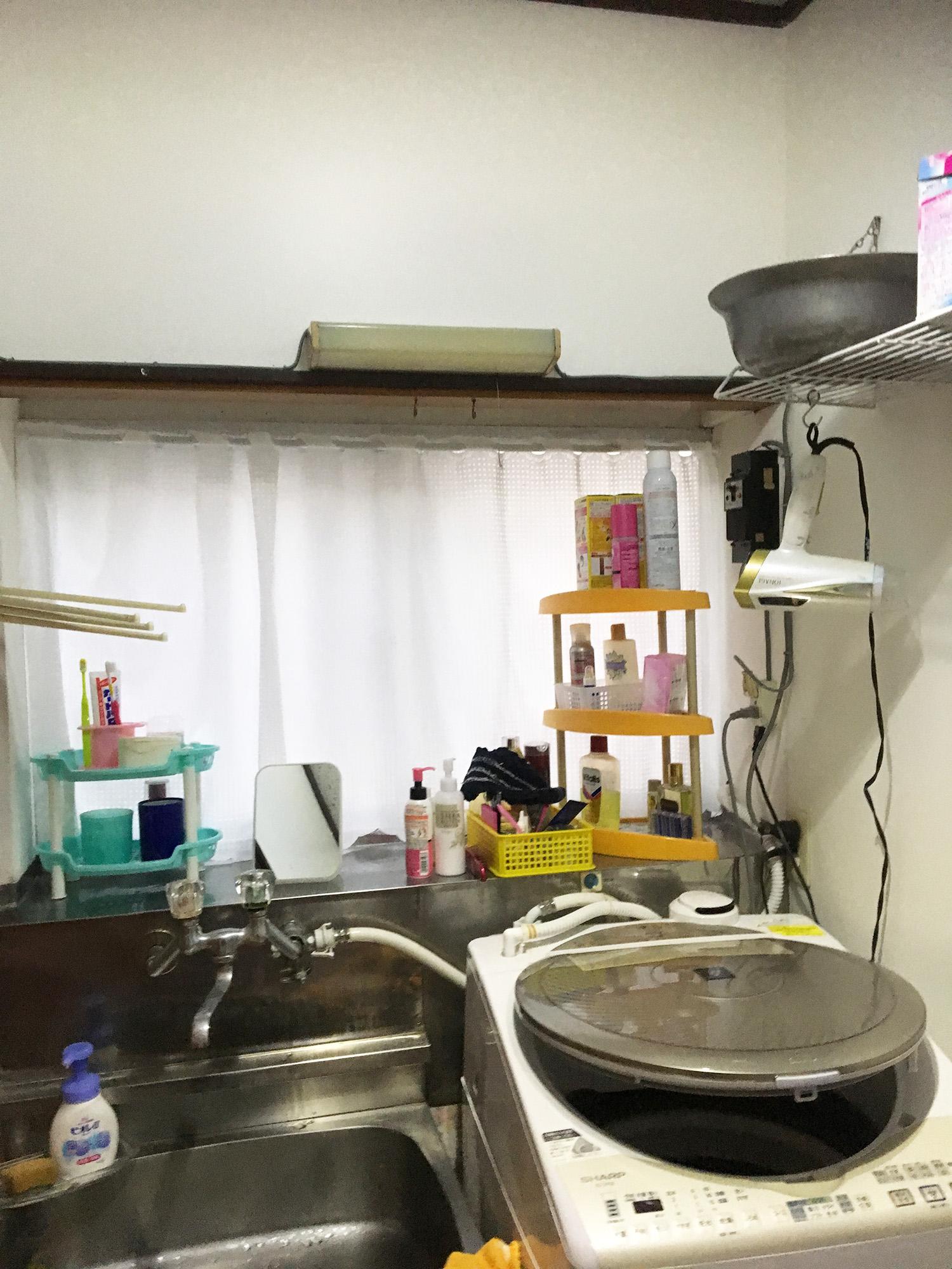 松島町M邸 洗面化粧台リフォーム 45万円/工期2日間 施工前
