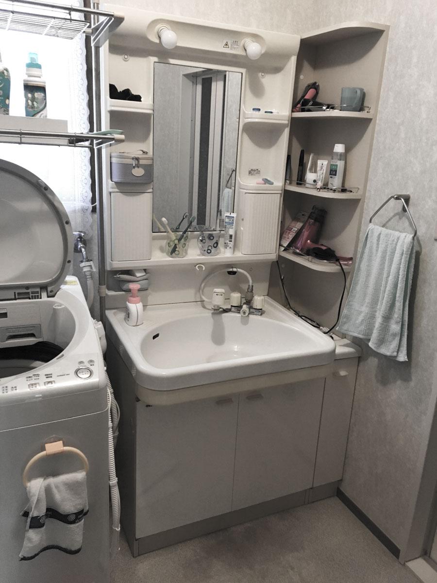 青葉区S邸 洗面化粧台リフォーム 22万円/工期1日間 施工前