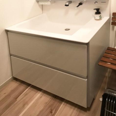 洗面台が使いやすくなった! 洗面所改修工事✨👏