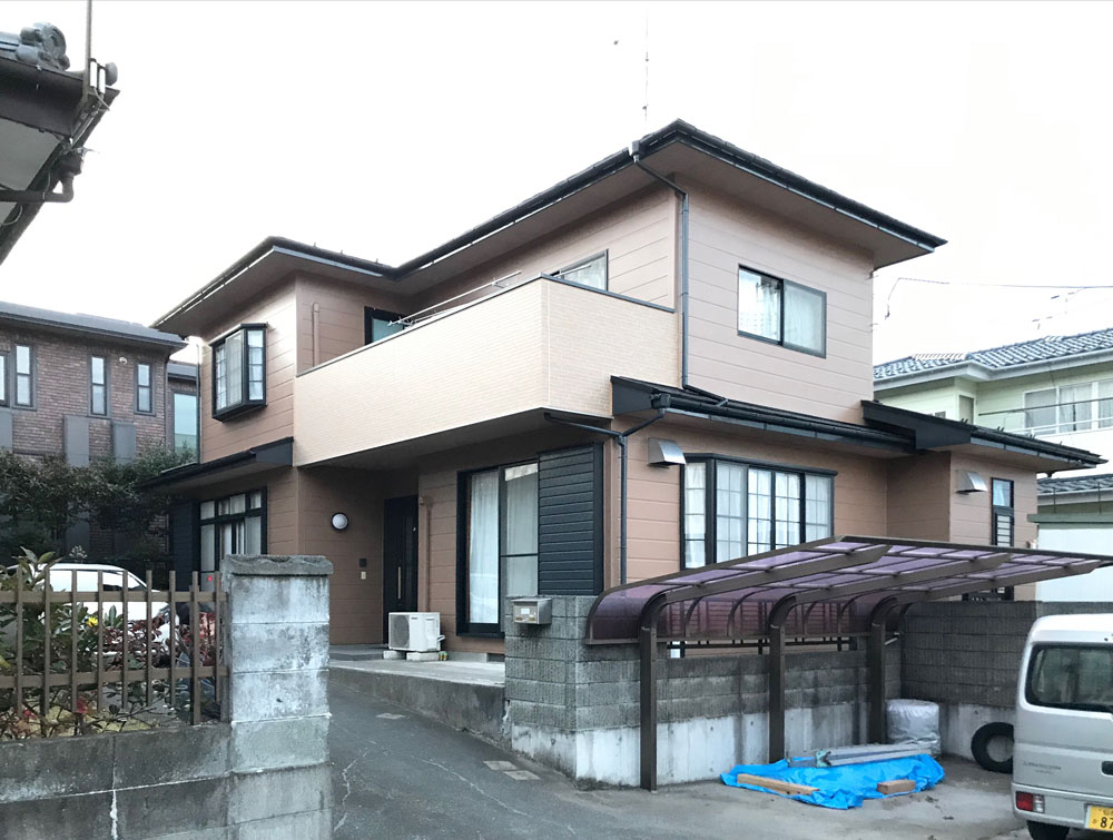 相馬市S邸 外壁塗装・外装リフォーム 228万円/工期44日間 施工後