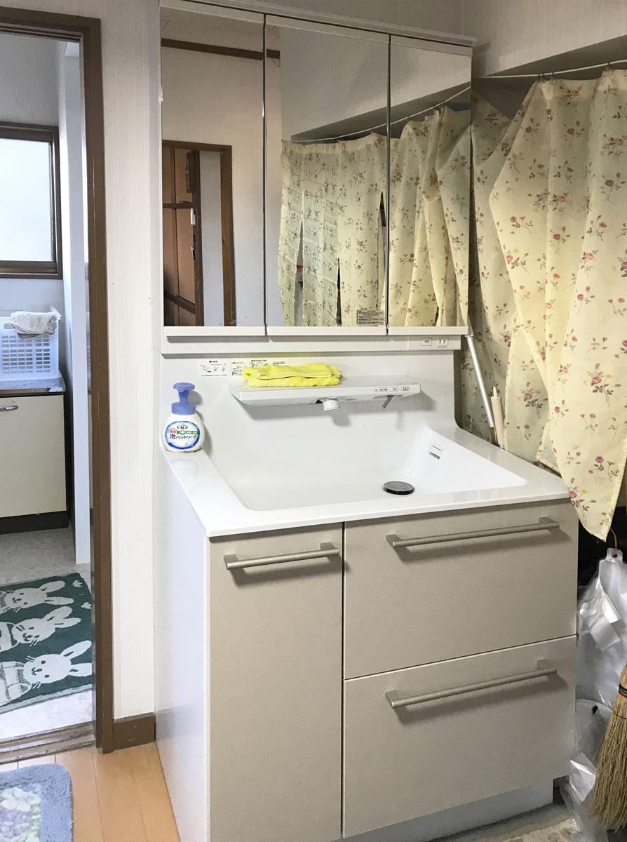 大崎市T邸 洗面化粧台リフォーム 28万円/工期1日間 施工後