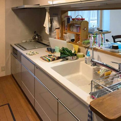 ホーローのキッチンでお手入れもラクチン✨キッチン改修工事