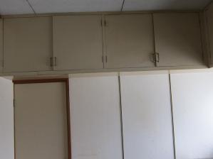 施工前キッチン壁